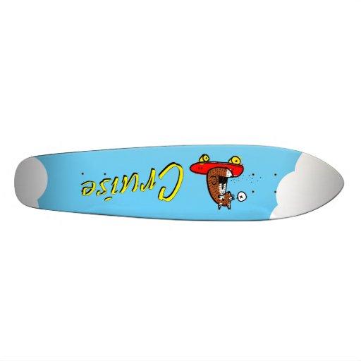 Fox on a penny board skate boards