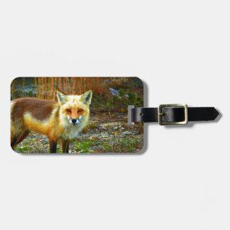 Fox on Grass Luggage Tag