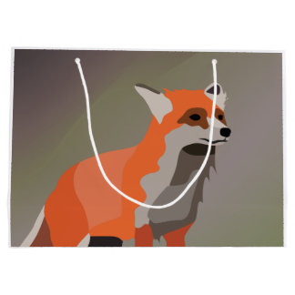 Fox on meadow large gift bag