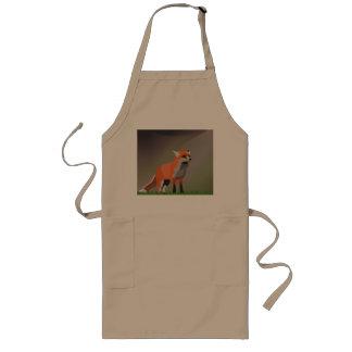 Fox on meadow long apron