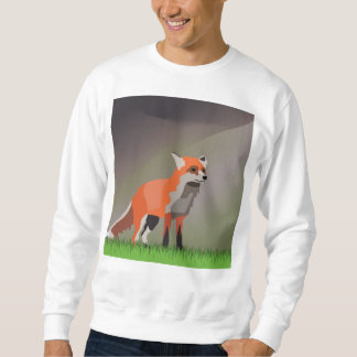 Fox on meadow sweatshirt