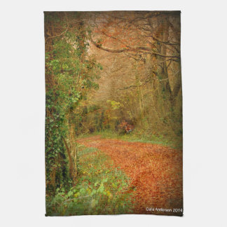 Fox on the Golden Path Poster ~ Fantasy Hand Towel