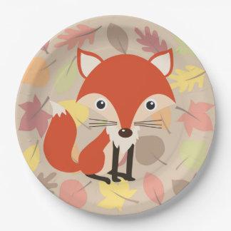 Fox Paper Plate