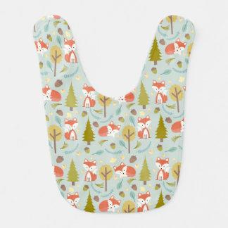 Fox Pattern Baby Girl Bib