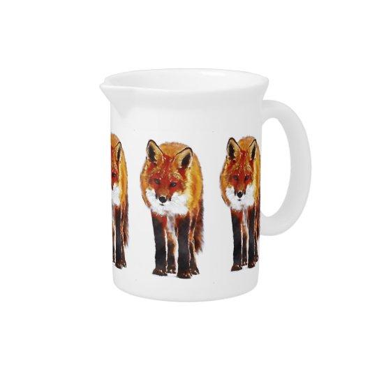 fox pitcher, fox jug, fox dining pitcher