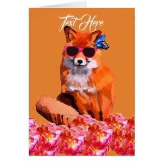Fox Poster Custom Text Postcard