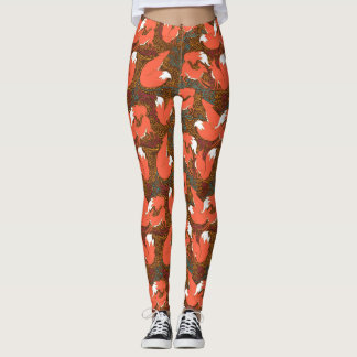 Fox print leggings