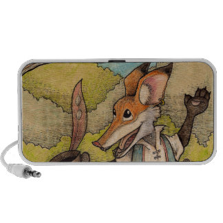 Fox Raven from Aesop s Fables Travel Speakers