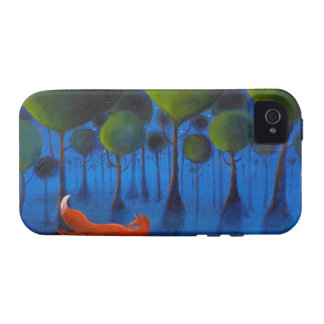 Fox Running In Woodland at Night. iPhone 4/4S Cases