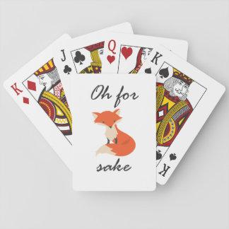 Fox Sake Playing Cards