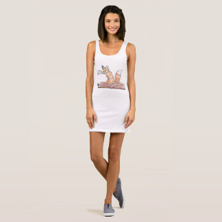 Fox Scribe Sleeveless Dress