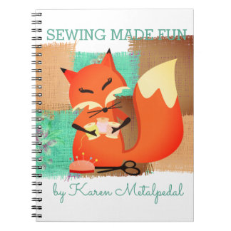 Fox seamstress sewing notions pattern notebook