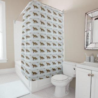 fox shower curtain, bathroom, fox gift home decor shower curtain
