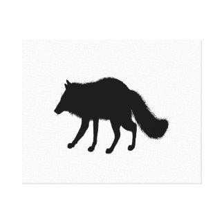 Fox Silhouette Canvas Print