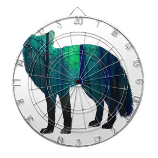 Fox silhouette - forest fox - fox art - wildfox dartboard