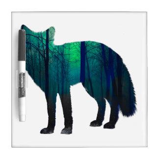 Fox silhouette - forest fox - fox art - wildfox dry erase board