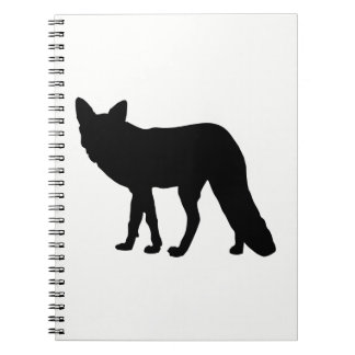 Fox Silhouette Spiral Notebook