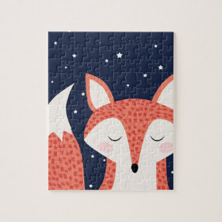 Fox sleeping night stars puzzles