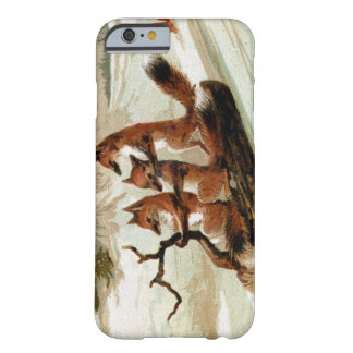 Fox Sleigh Ride Vintage Barely There iPhone 6 Case