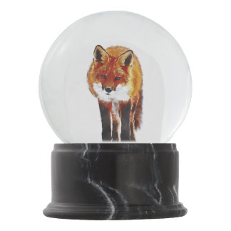 fox snow globe, fox winter gift snow globe