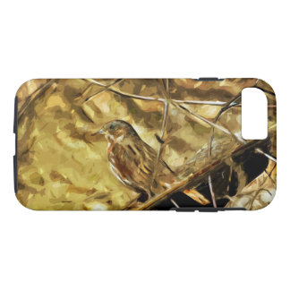 Fox Sparrow Songbird Abstract Impressionism iPhone 7 Case