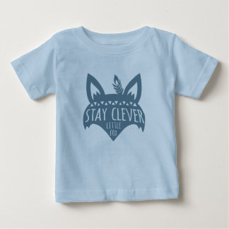 Fox, Stay Clever Little Fox, Blue Baby T-Shirt