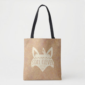 Fox, Stay Clever Little Fox Tote Bag