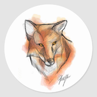 Fox Stiker Classic Round Sticker