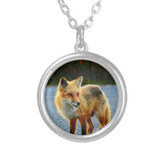 Fox Sunset Silver Plated Necklace