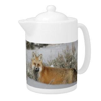 fox teapot, fox coffee pot, fox gift