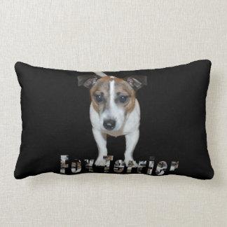 Fox Terrier And Logo, Lumbar Cushion