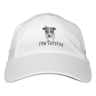 Fox Terrier And Logo, White Performance Knit Cap