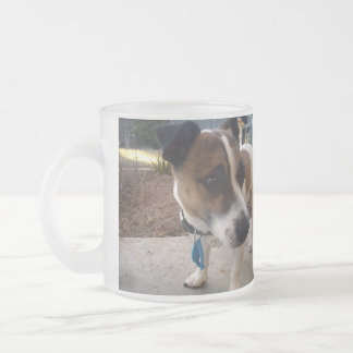 Fox Terrier Attraction, Frosted Glass Mug