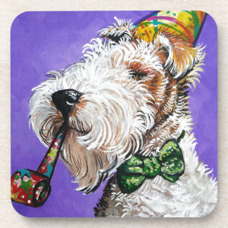 Fox Terrier Birthday Coaster