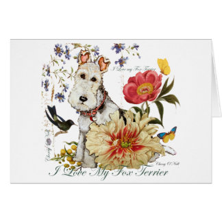 Fox Terrier Garden Greeting Card
