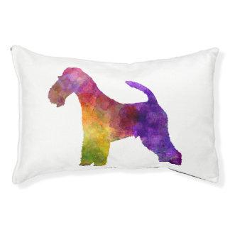 Fox Terrier in watercolor Pet Bed