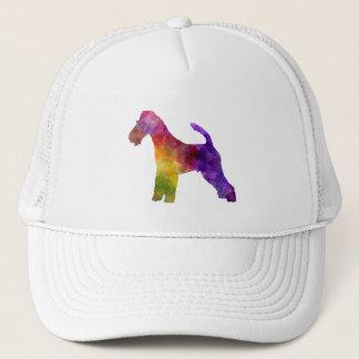 Fox Terrier in watercolor Trucker Hat