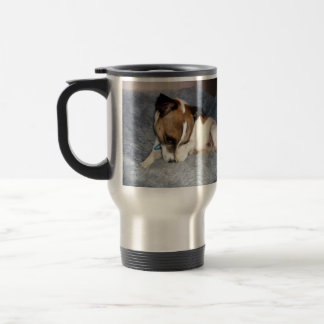 Fox Terrier, Oh So Shy, Travel Coffee Mug. Travel Mug