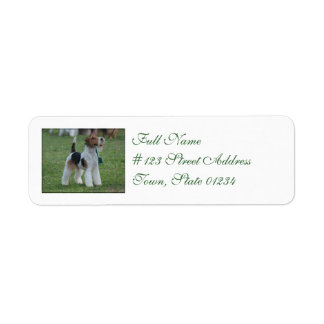 Fox Terrier Return Address Label