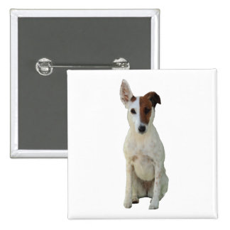 Fox Terrier Smooth dog beautiful photo button pin