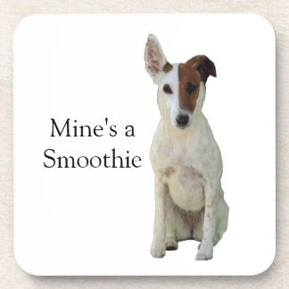 Fox Terrier Smooth dog beautiful photo coaster