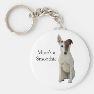 Fox Terrier Smooth dog beautiful photo keychain
