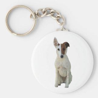 Fox Terrier Smooth dog beautiful photo keychain