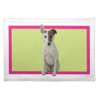 Fox Terrier Smooth dog beautiful photo placemat