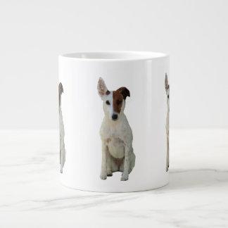 Fox Terrier Smooth dog cute photo jumbo mug 20 Oz Large Ceramic Coffee Mug