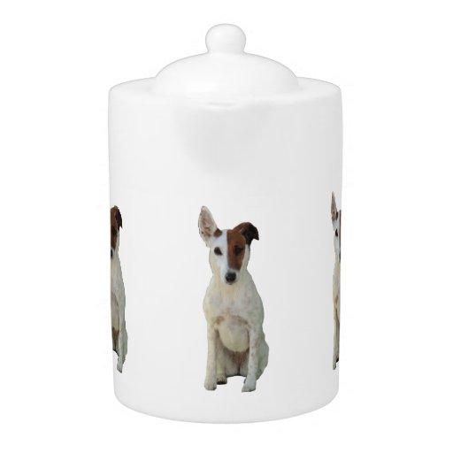 Fox Terrier Smooth dog cute photo teapot