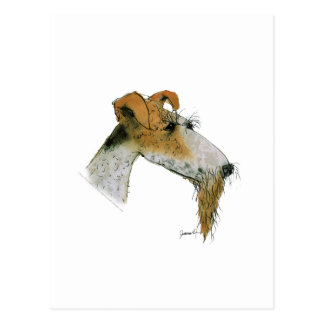 Fox Terrier, tony fernandes Postcard