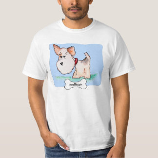 Fox Terrier Watercolor with Name T-Shirt