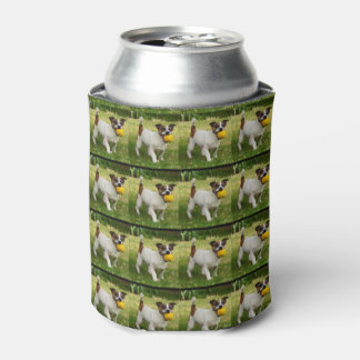 Fox Terrier With His Ball In A Pattern, Can Cooler