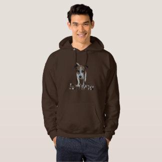 Fox Terrier With Logo, Mens Brown Hoodie